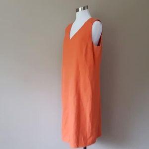 16 / Talbots / Dress / Orange / Sleeveless